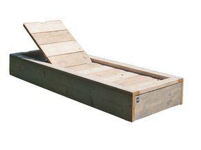 Naar voorbeeld van de steigerhout tuinbed bouwtekening maar met een verlaging in… Teras