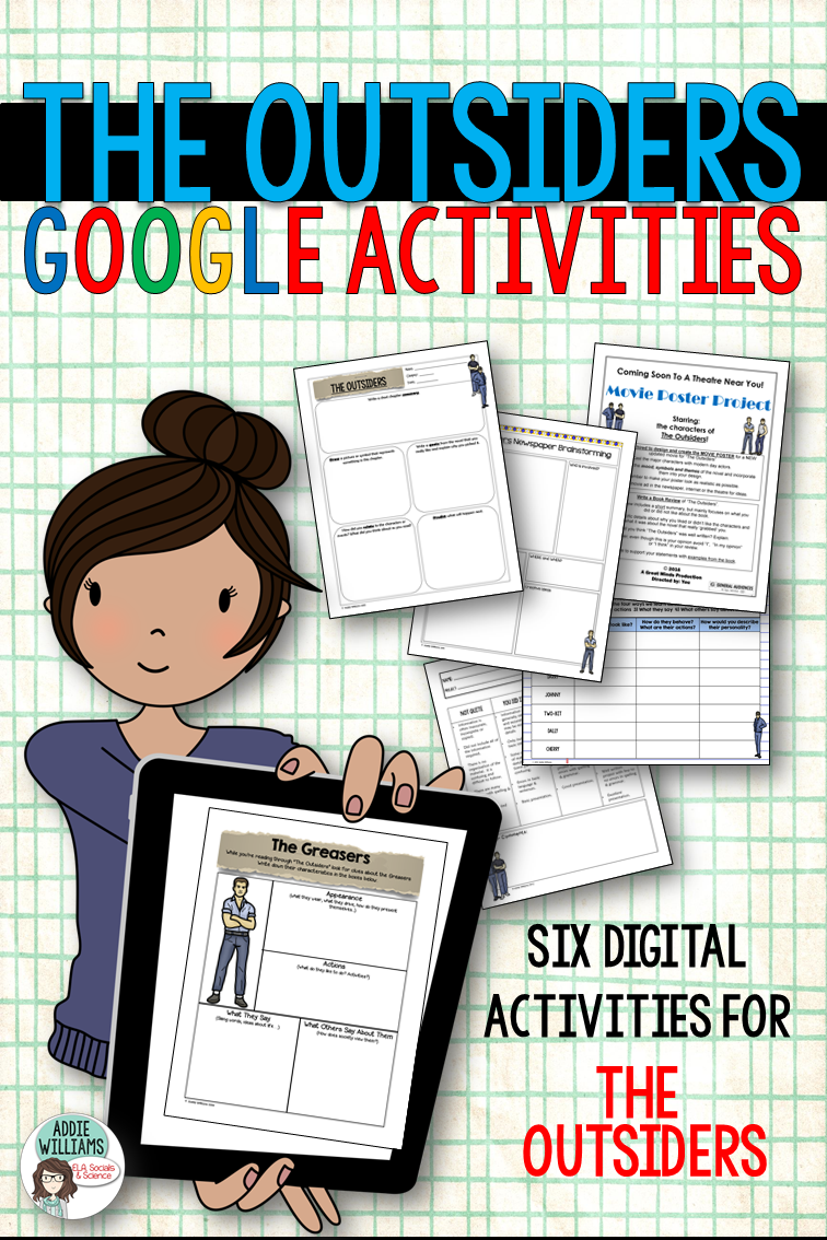 Workbooks the outsiders workbook : The Outsiders - Digital activities for the popular novel! Engage ...