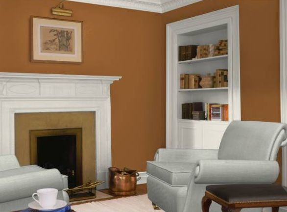 Wall colors we love for the living room burnt orange living room orange living rooms and wall - How we paint your room ...
