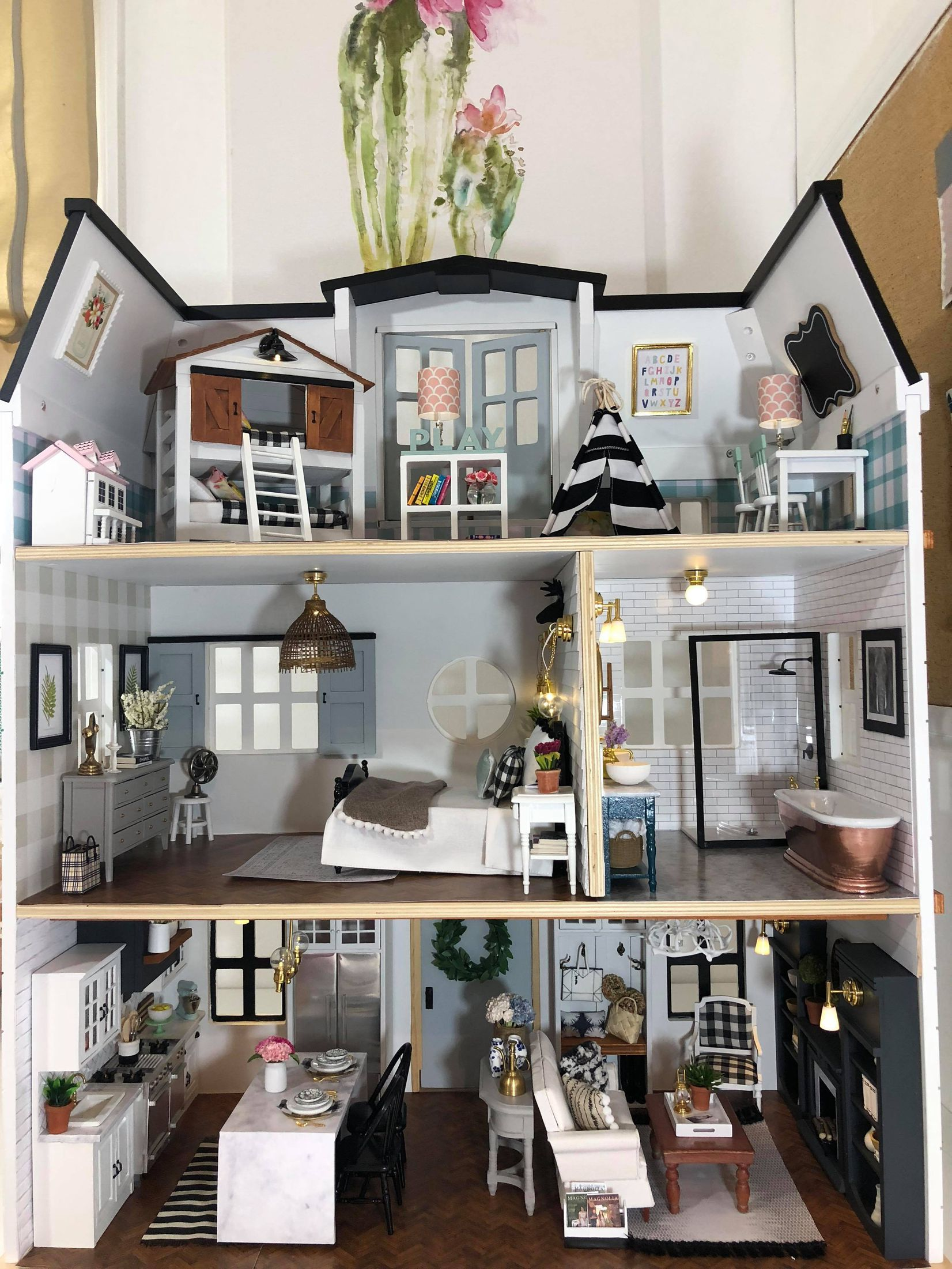 This Mom Made A Fixer Upper Dollhouse And It S A Flippin