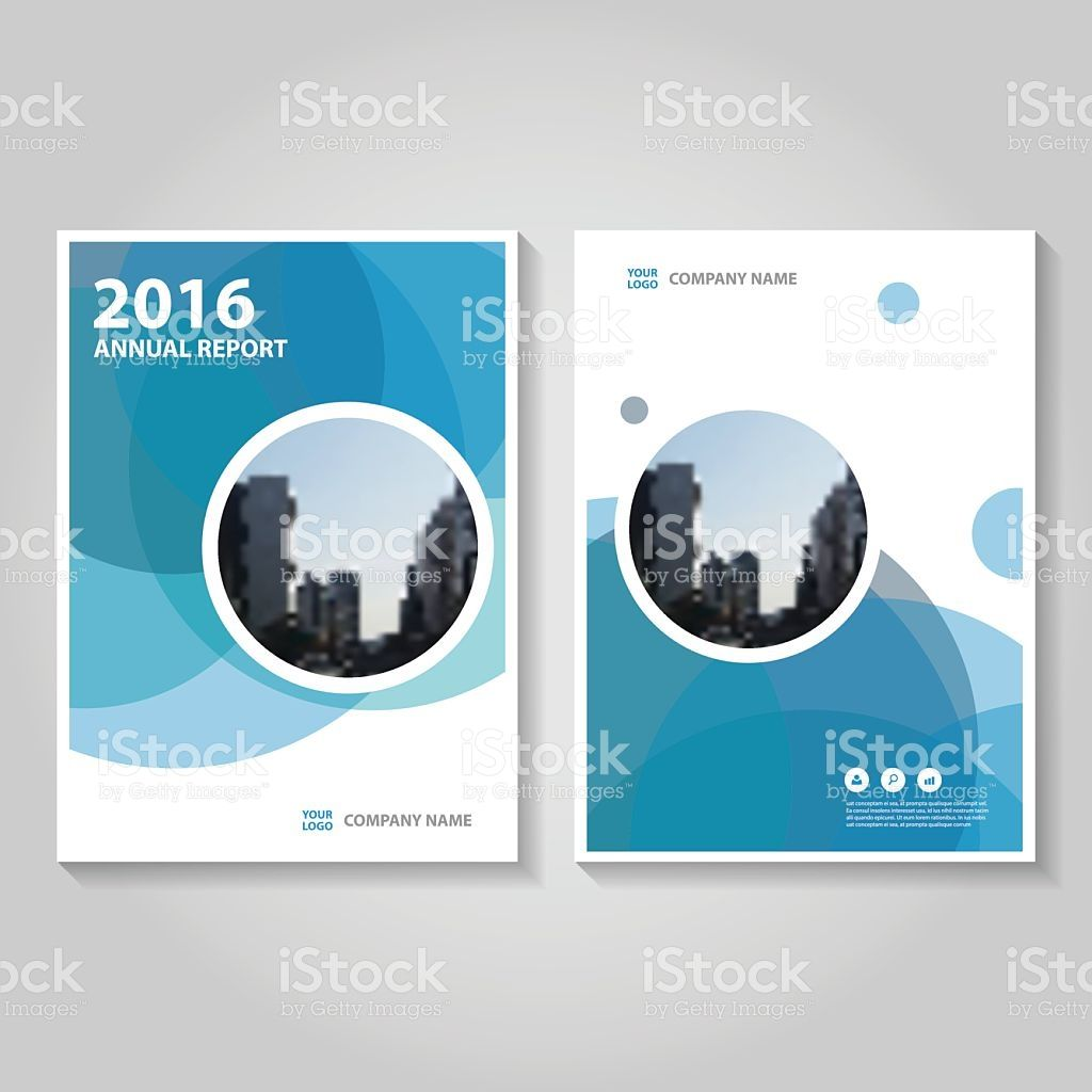 Circle Blue Vector annual report Leaflet Brochure Flyer template ...
