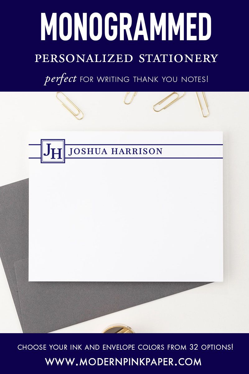 monogrammed stationery professional 2 letter monogram note card