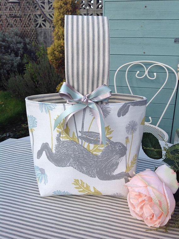 Gray rabbit gift bag easter bunny basket easter egg hunt basket gray rabbit gift bag easter bunny basket easter egg hunt basket easter gift bag easter bunny bag easter party bag uk sellers only easter gift bags negle Images