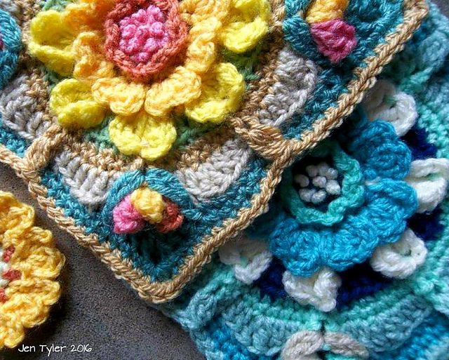 Ravelry: Winter and Summer Solstice Squares pattern by Jen Tyler ...