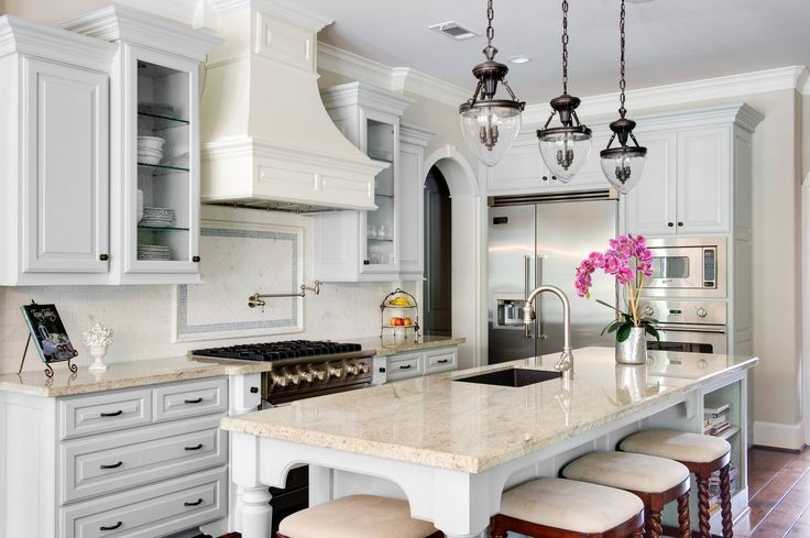 Best French Kitchen Features Gray Cabinets Paired With Cream 400 x 300