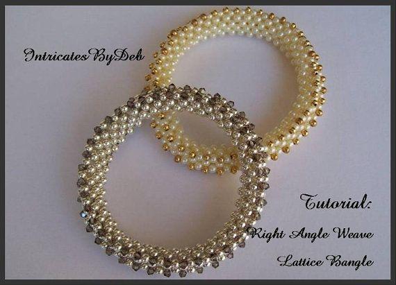 Tutorial beaded right angle weave lattice bangle bracelet tutorial beaded right angle weave lattice bangle bracelet jewelry beading pattern beadweaving instructions solutioingenieria Images