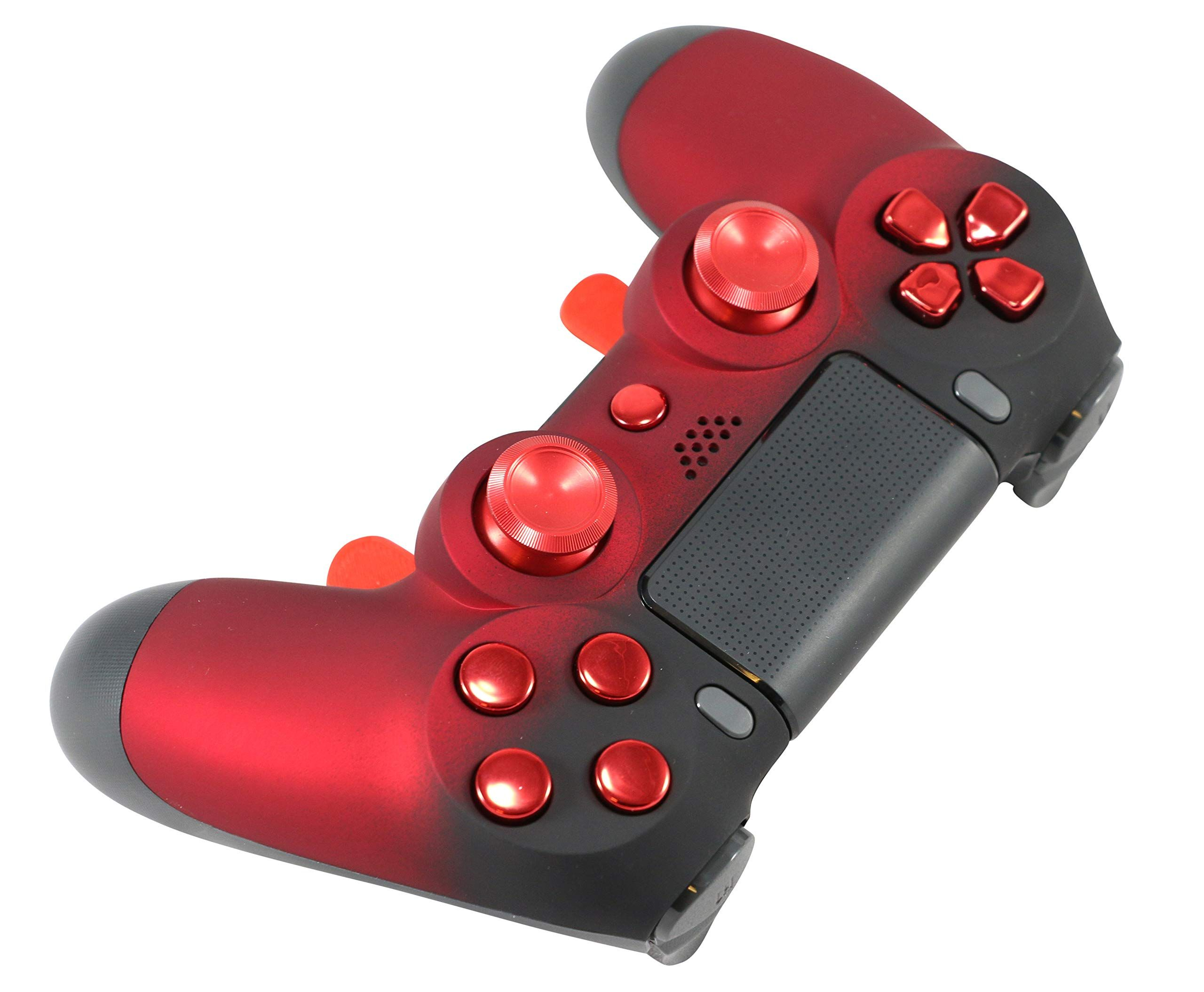 PS4 Elite Soft Touch Red Chrome Custom Controller with