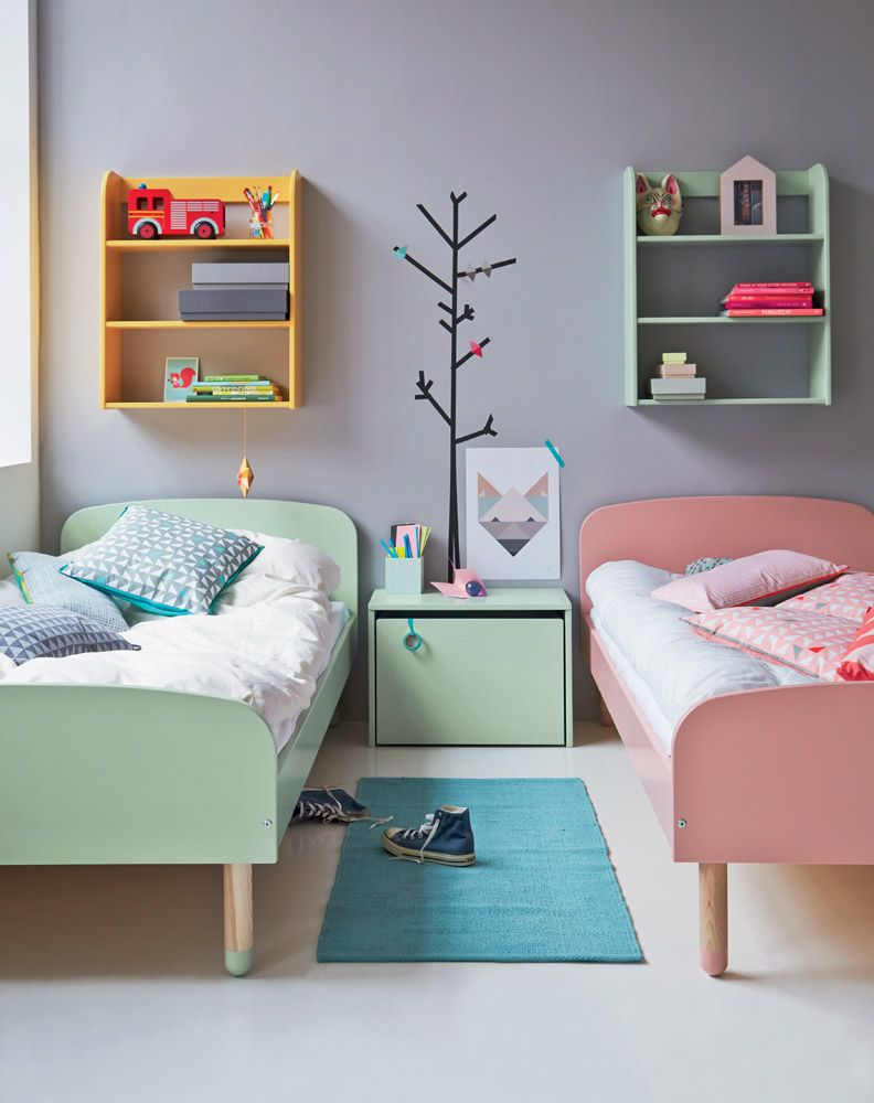 lit enfant 90x200 flexa play fr re s urs et menthe. Black Bedroom Furniture Sets. Home Design Ideas