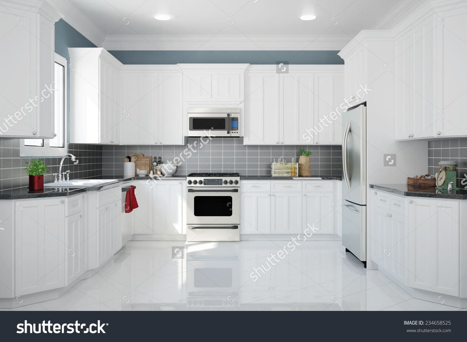 stock-photo-interior-of-new-white-kitchen-with-kitchenware-and ...