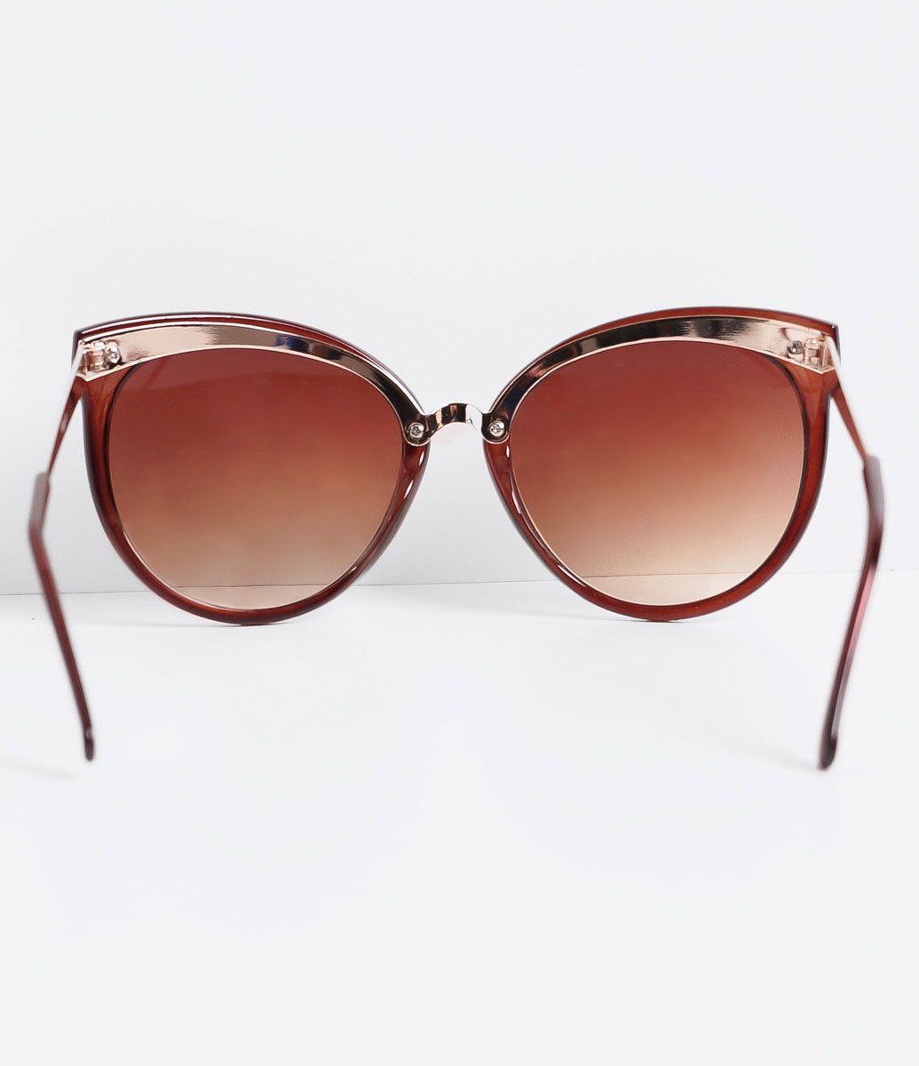 Óculos de sol Modelo redondo Hastes em acetato Lentes fumê degradê em  acrílico Proteção contra raios 85004544ca