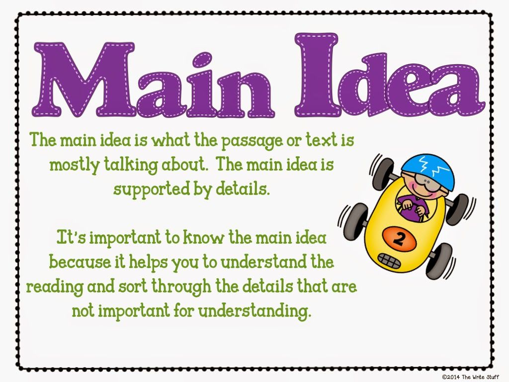 Teaching Main Idea With Images