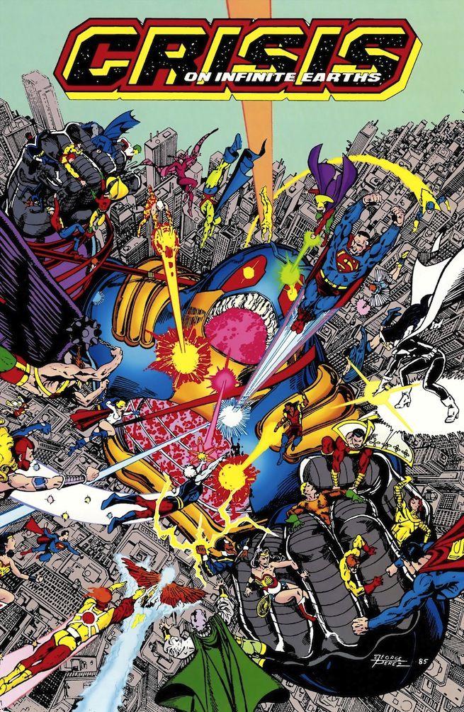 "DC #Fan #Art. (Crisis on Infinite Earths. ""Final Crisis"" Vol.1 #12 Cover)  By: George Pérez. ÅWESOMENESS!!!™ ÅÅÅ+ | Comics, Superhero comic, Dc comics"