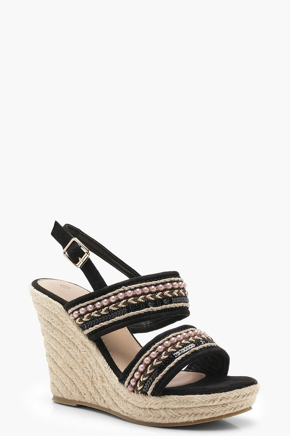 e07876d1f2 Click here to find out about the Lola Beaded Strap Espadrille Wedges from  Boohoo