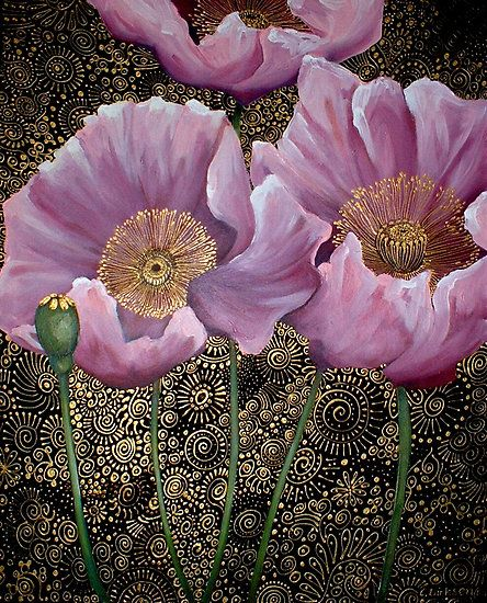 Pink Poppies by Cherie Roe Dirksen (prints available) #art #poppy