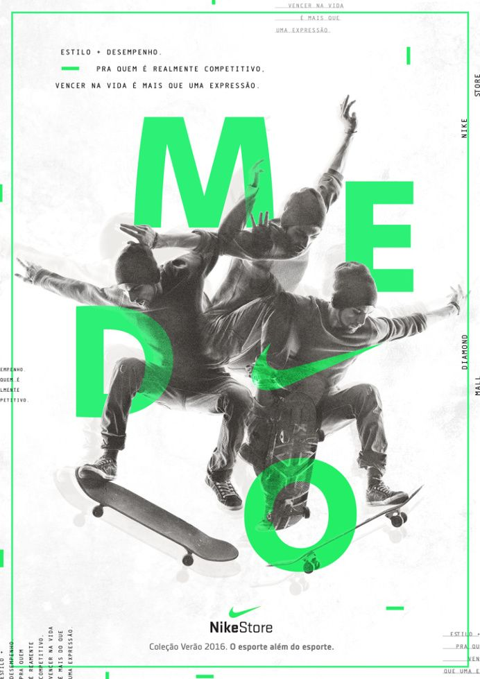 e0100a48fd161d Nike Store on | poster | Typography poster design, Nike poster ...