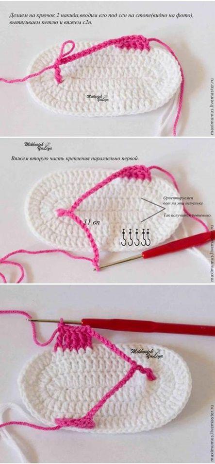 Sapatinhos e sandalinhas em crochê | Acessórios de crochê ...