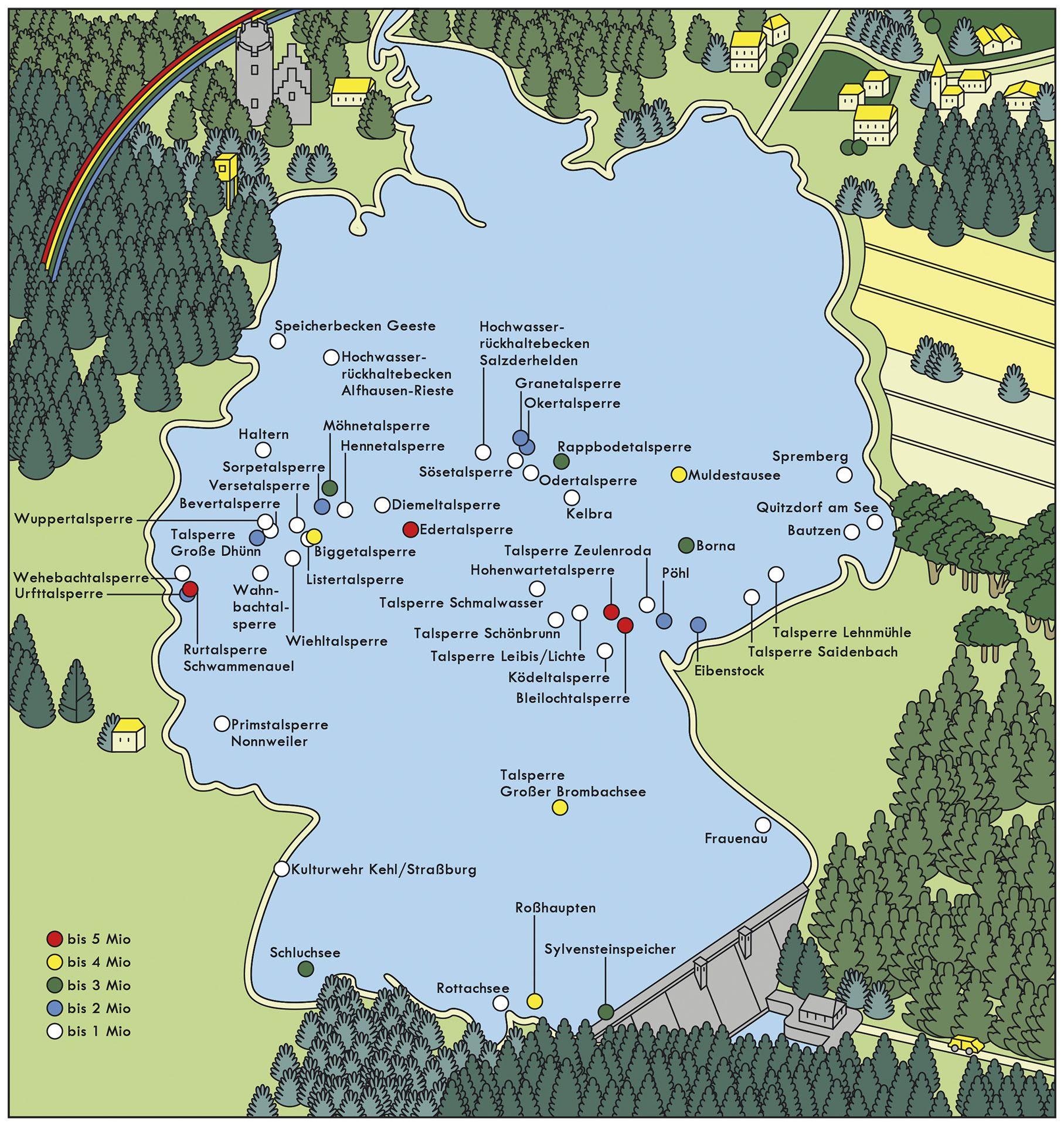 04 Talsperren Deutschlandkarte Landkarte Und Deutschland