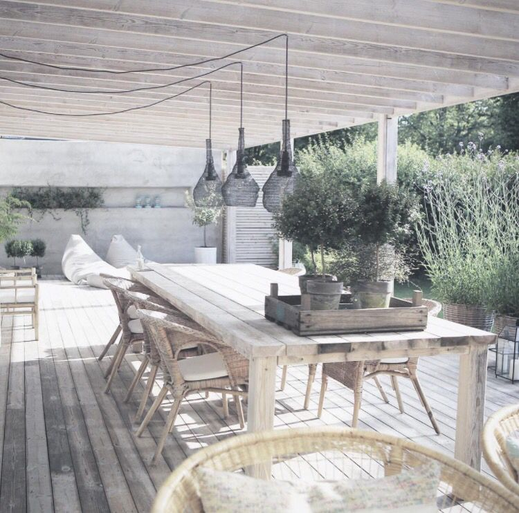 ikea gartenst hle i pflanzen an der terrasse haus c pinterest varanda terra os e quintal. Black Bedroom Furniture Sets. Home Design Ideas