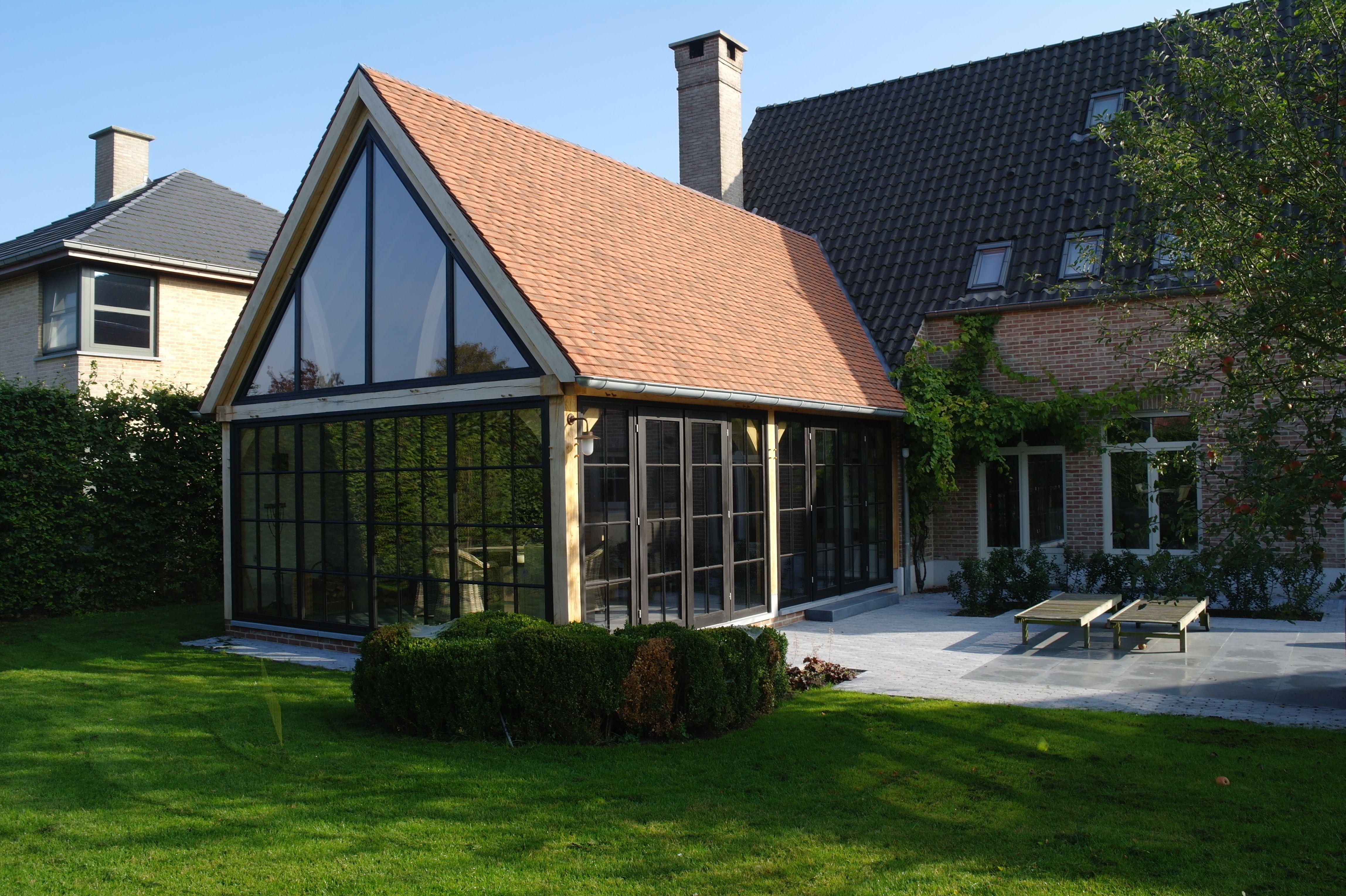 Eiken aanbouw als uitbreiding van de woonkamer the garden house pinterest woods and van - Uitbreiding huis glas ...