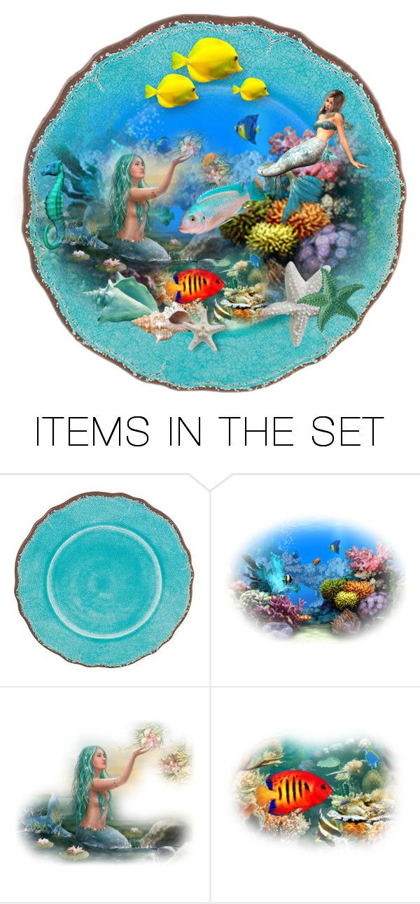 """""""Mermaids"""" by htgraphicdesigner ❤ liked on Polyvore featuring art, Summer, mermaid, artset and artexpression"""