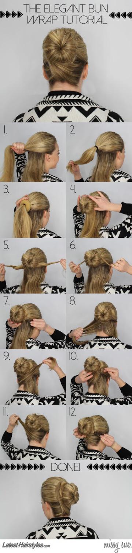 The Elegant Bun Wrap Hairstyle Tutorial