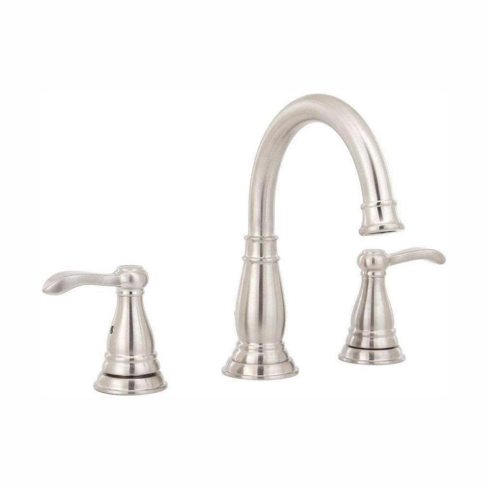 Delta Porter 8 In Widespread 2 Handle Bathroom Faucet In Brushed Nickel 35984lf Bn Eco The Home Depot In 2020 High Arc Bathroom Faucet Bathroom Faucets Widespread Bathroom Faucet