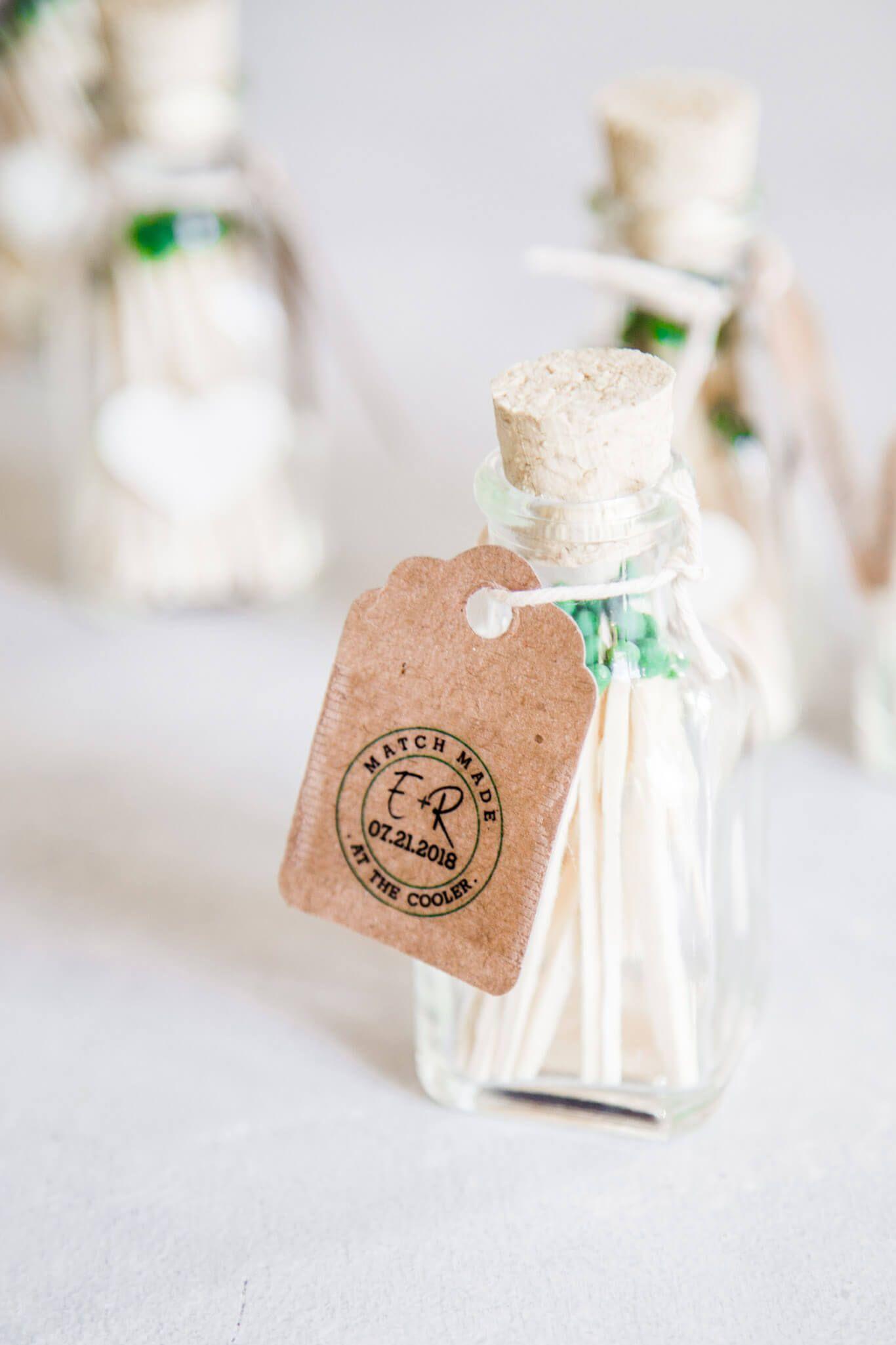 Wedding Matches // DIY Wedding Favors Handmade wedding