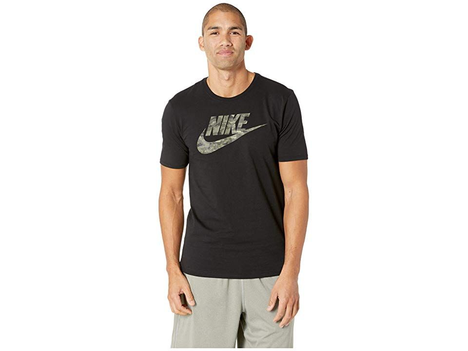 4157586f Nike NSW Tee Camo Pack 2 (Black/Neutral Olive) Men's T Shirt. The ...