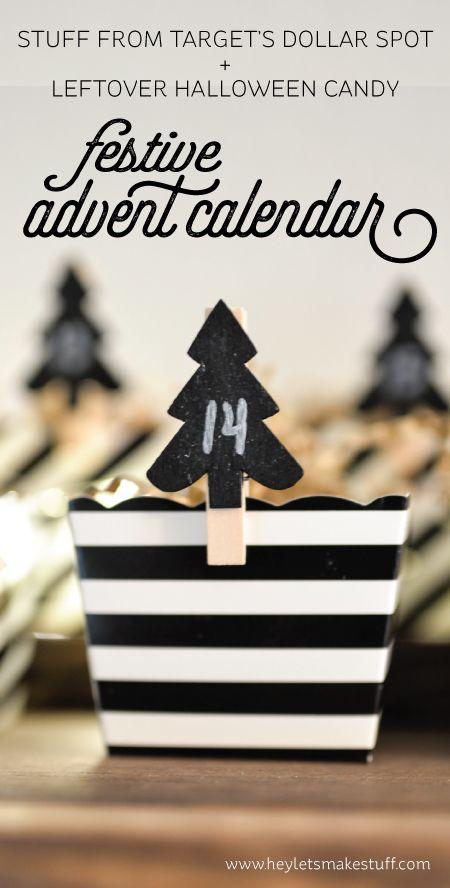 DIY Advent Calendar christmas Pinterest Halloween candy