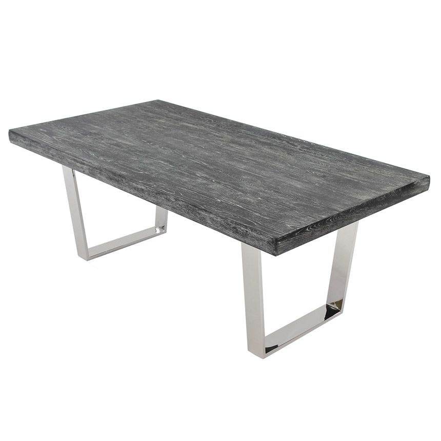 Vela Gray Wash Rectangular Dining Table Interiores