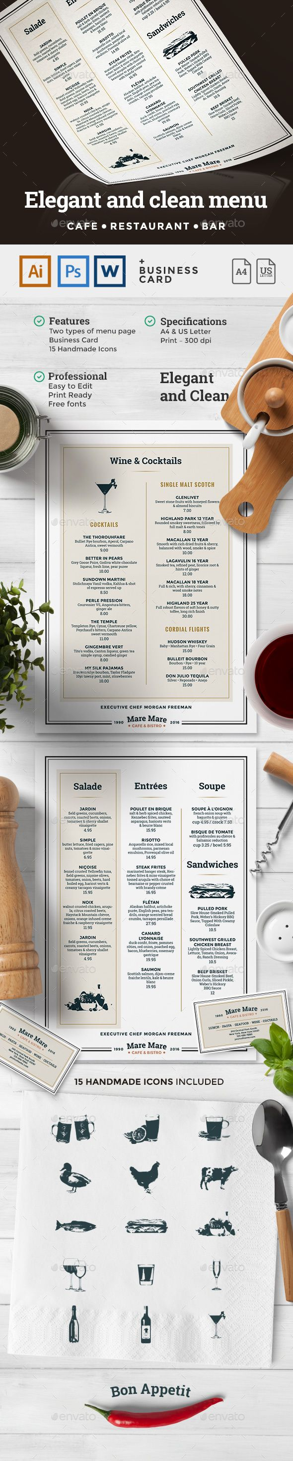 Menu Template | Pinterest | Menu templates, Menu and Print templates