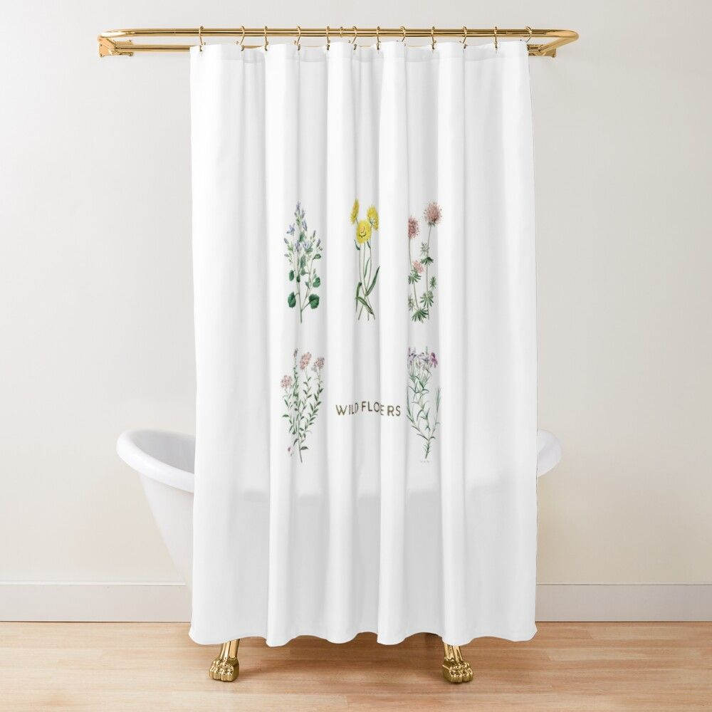 Wildflowers Shower Curtain By Trajeado14 In 2020 Curtains