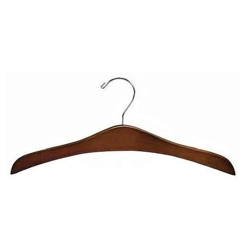 Decorative Wooden Dress Hanger Walnut Chrome Hanger Chrome Decor