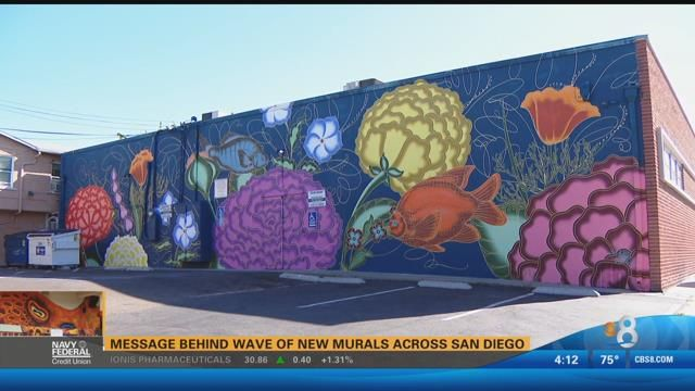 Message behind wave of new murals across San Diego CBS News 8