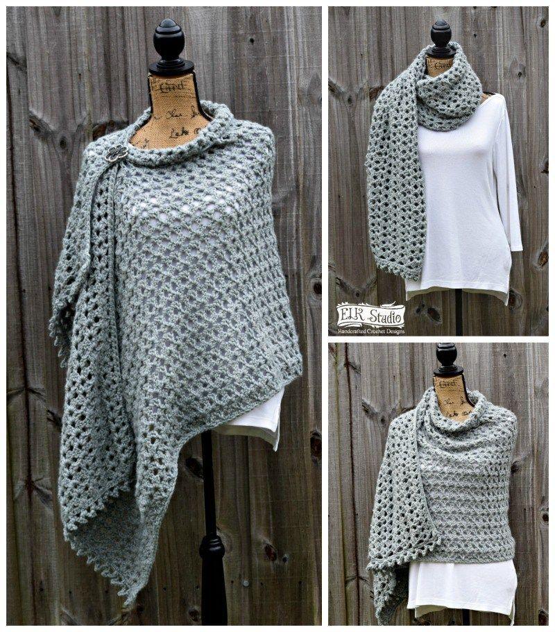 Southern Trellis Wrap Elk Studio Handcrafted Crochet Designs