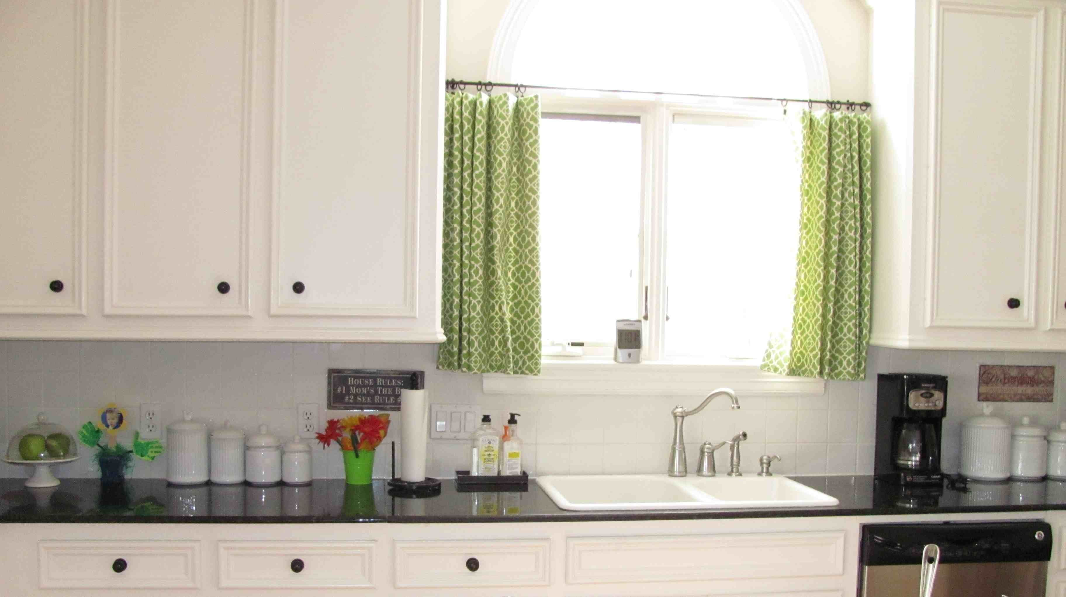 Curtains for long kitchen windows realtagfo pinterest