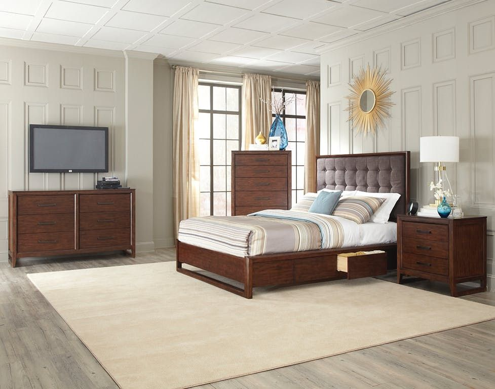 Cresent Fine Furniture Bedroom Mercer Upholstered Bed 5332 ...