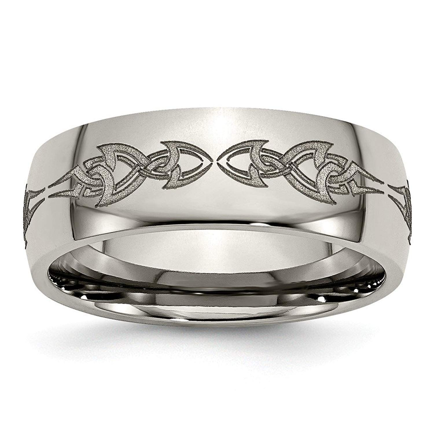Top 10 Jewelry Gift Titanium 8mm Polished Band ** We do