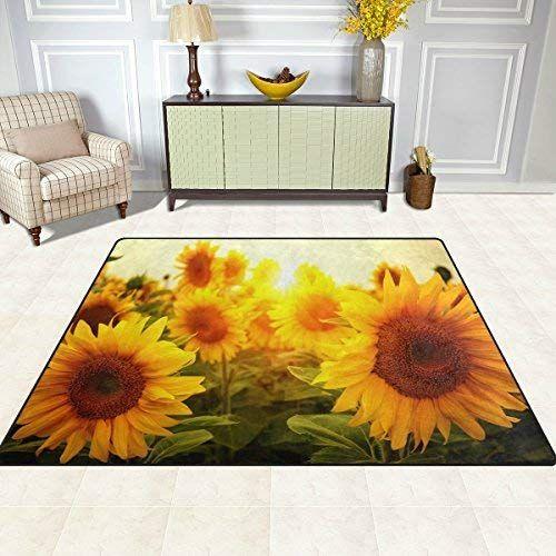SY Teppiche Teppich Matte 4\u0027x5\u0027, Sommer Blumen Blume Sonnenblume