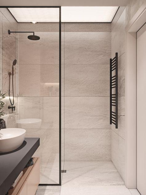 Dies ist meine Lieblingsfarbe für das Badezimmer, aber keine schwarzen Rahmen und Regale. - - #Genel #rusticbathroomdesigns