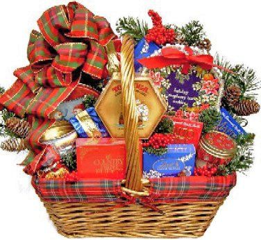 Plaid Christmas Holiday Gourmet Food Gift Basket - Size Large - http ...