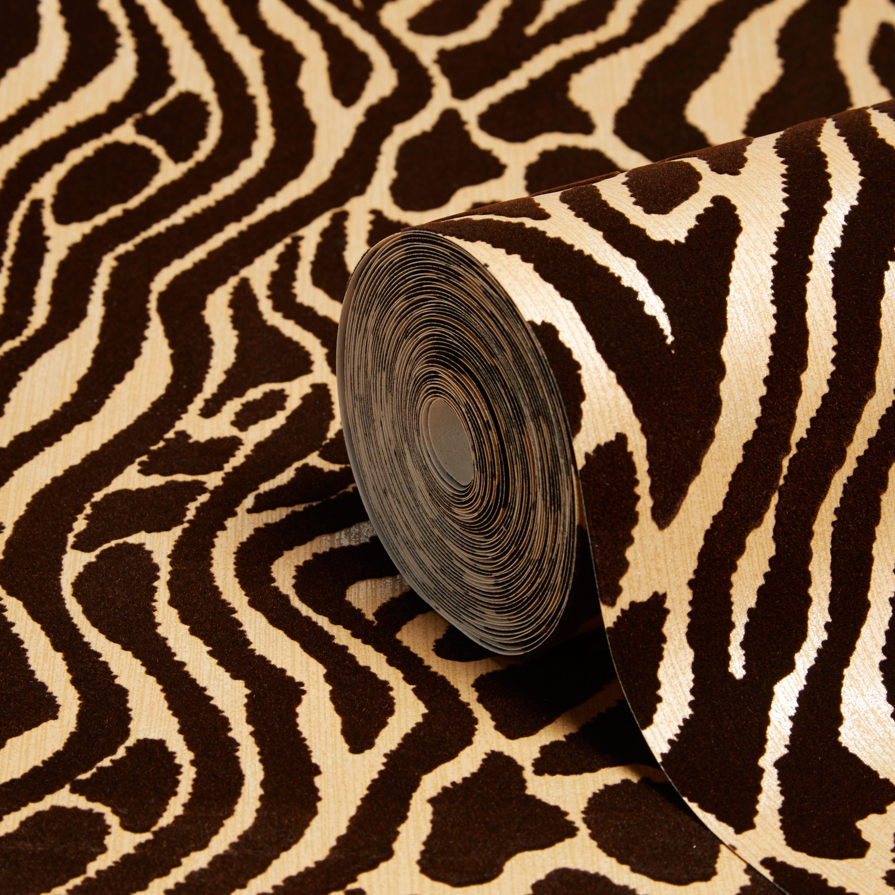 Graham Brown Julien Macdonald Caffe Gold Animal Print Wallpaper Departments Diy At B Q