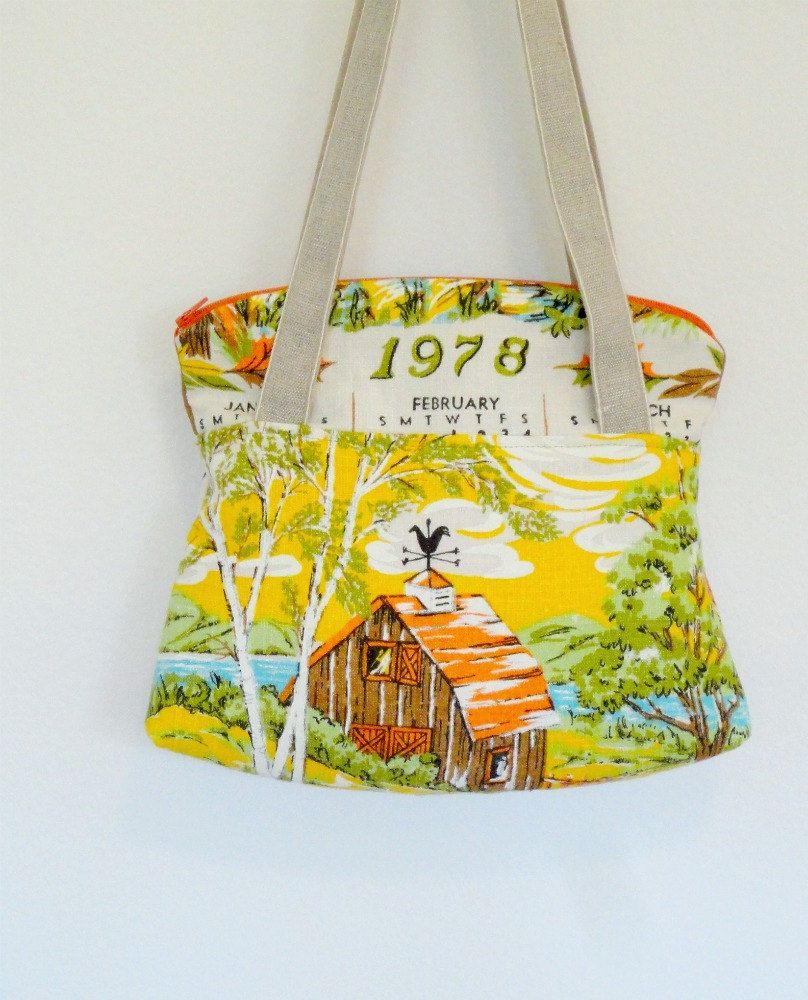 Vintage tea towel tote | Diy clothes bag, Diy bags purses ...