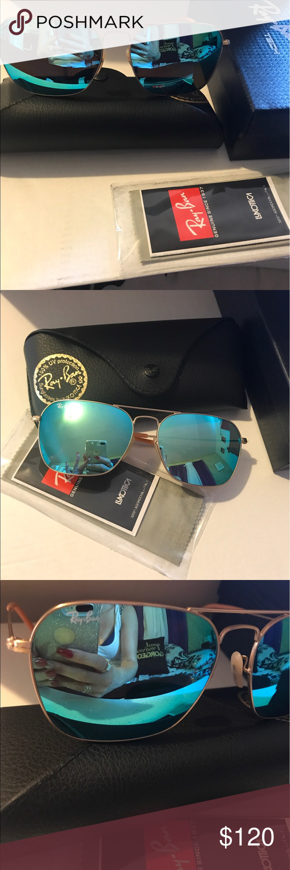 b066b96c3cb84 Brand New Ray-Ban Caravan Green Mirror RB 3136 Ray-Ban Caravan Matte Gold  Frame   Green Mirror RB 3136 112 19 58mm Medium