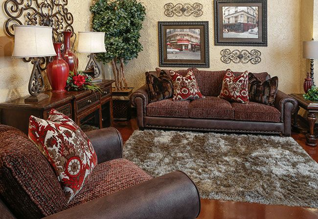 Rocky Mountain Ruby Sofa Tuscan Style Decorating