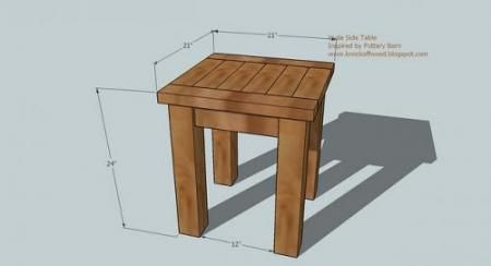Tryed Side Table Diy Furniture Plans Diy Side Table Outdoor
