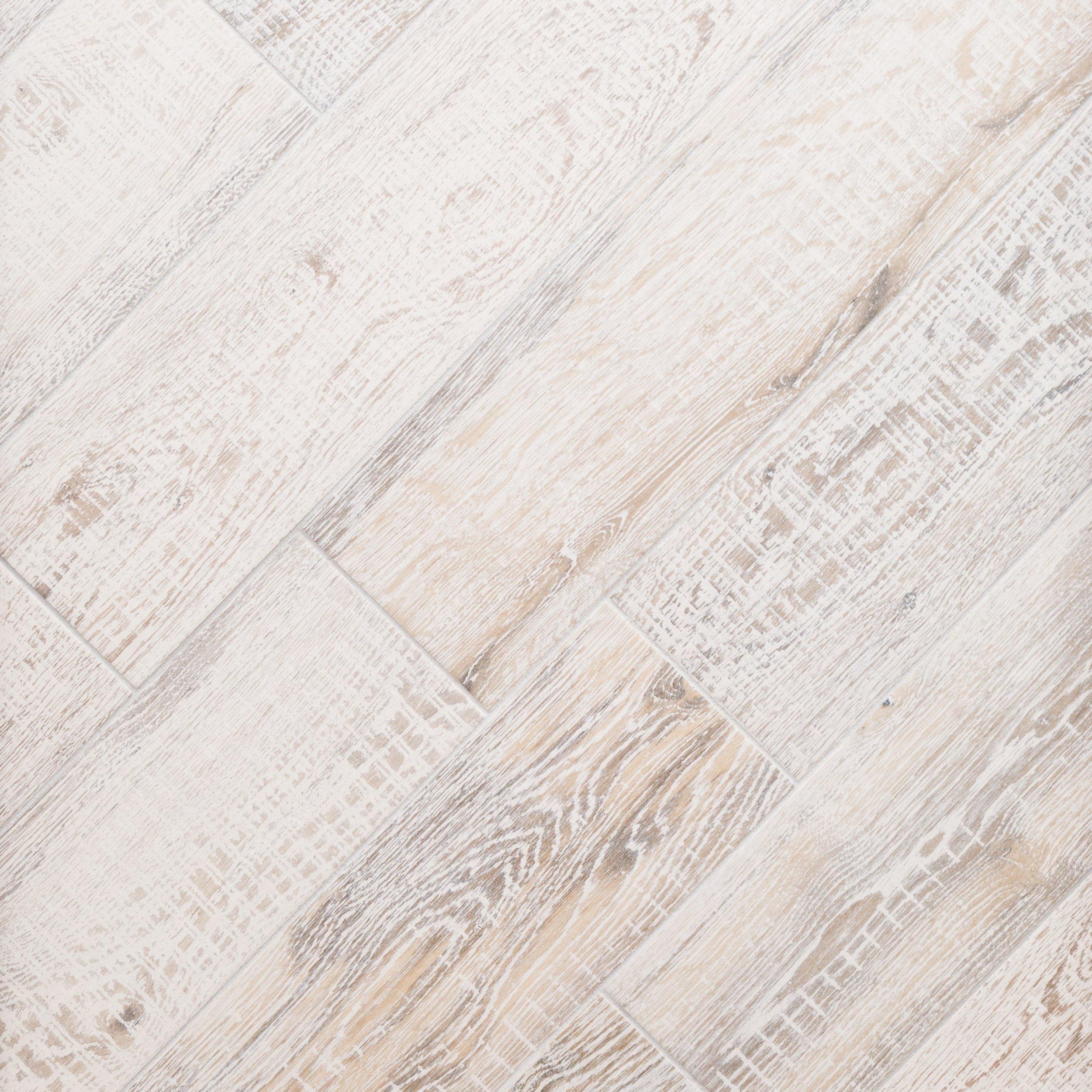 Brixton White Wood Plank Porcelain Tile - 8 x 32 - 100434612   Floor ...