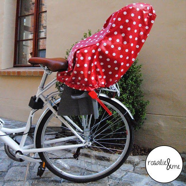 Fahrradsitzbezug, Kindersitzbezug, Regenschoner, Wachstuch ...