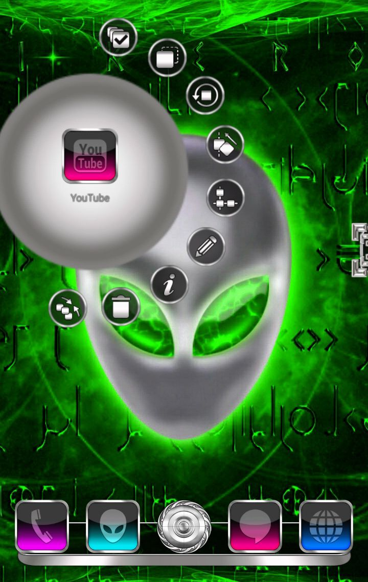 Alien 3D Next Launcher theme for smartphones and tablets