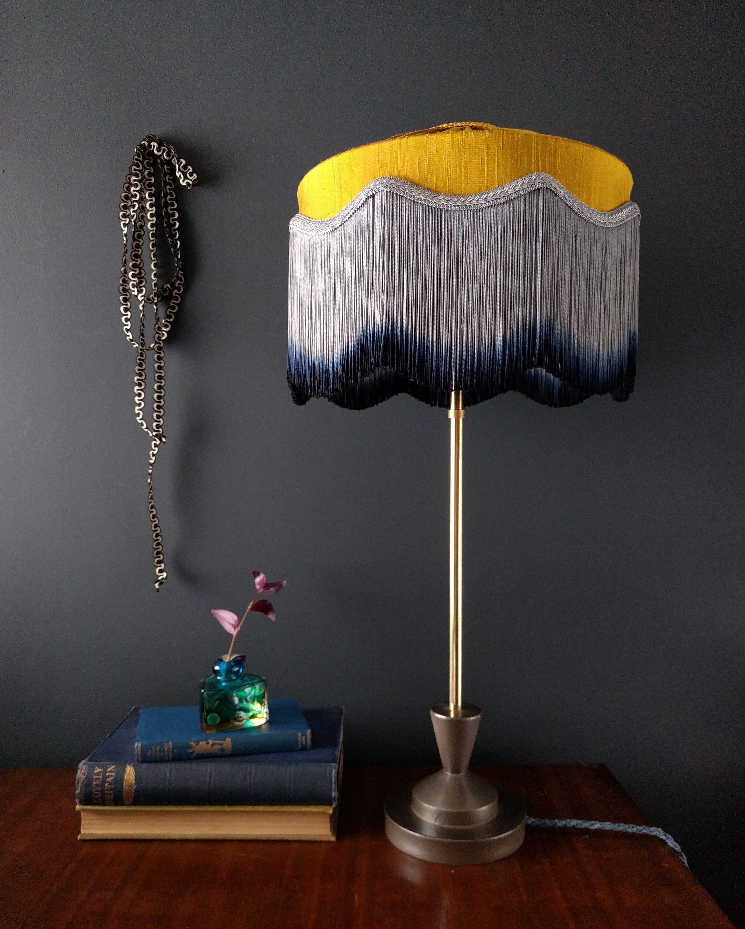 Image Result For T I F F A N Y Tassel Lampshade Lamp Shades Lampshades Turquoise Lamp Shade